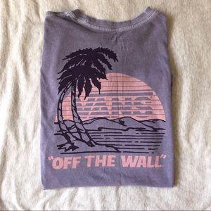 Lavender beach sunset VANS t shirt